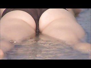 hot blonde super wet crotch shot 62