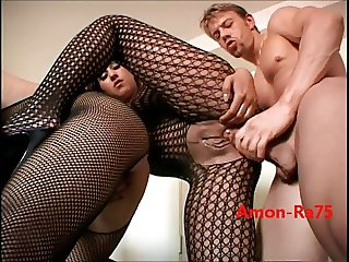 Nasty Bitches in Fishnets Get Fucked