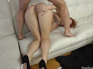 Redhead Eva anal game