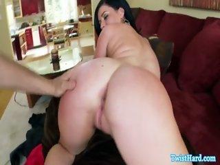 Belle Noire swallowing his cum