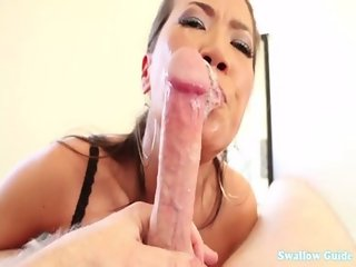 Kalina Ryu savagely takes dick down her throat she wants cum for breakfast