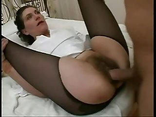 Hairy French Mature anal 03