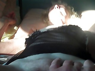 Senior Sex- playing with pussy
