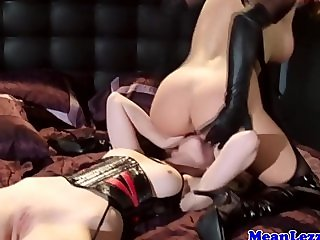 Lezdom mistress sitting on her subs face