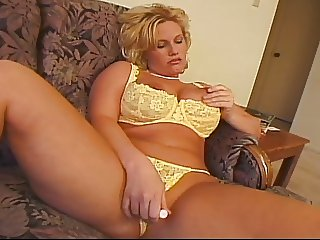 Big boobs blonde MILF shagged by ugly bald guy