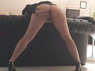 Nina teasing husband on sofa 1