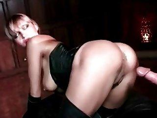 Rich bitch loves anal!