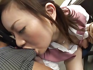 Mika Fukunaga - Japorno horny lady got sperm at office