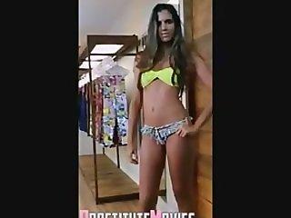 Hot parade with teens in bikini thong !