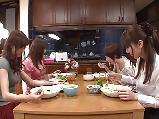 Japanese Lesbians (4 girls house sharing, 1 girl wants all)