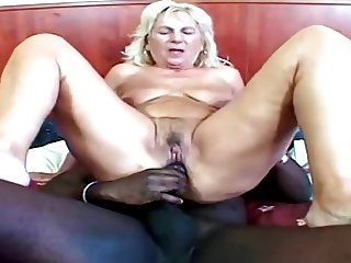 Hungarian GILF with herself and BBC