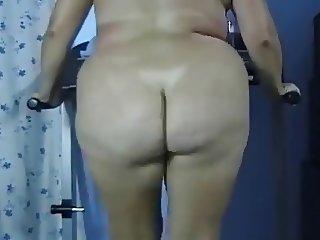 BBW Butt Naked Fat Ass Treadmill Workout  - negrofloripa