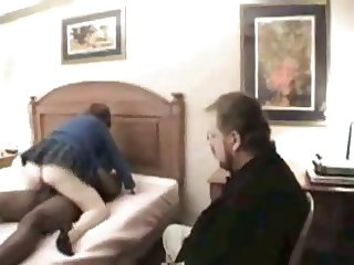 Black man fucks wife, He cleans up