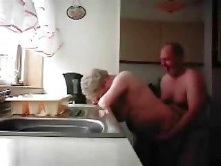 Hidden cam. Mum and dad home alones having fun