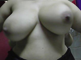 tit spanking, squeezing, slowmotion of my fat latina