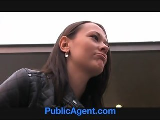 PublicAgent Pretty brunette gets fucked in the middle of nowhere