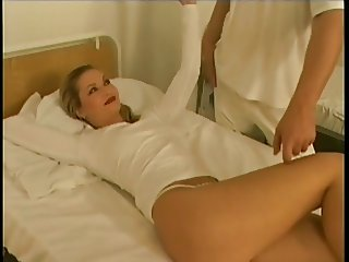 Girl fucks guy in ass with strap on