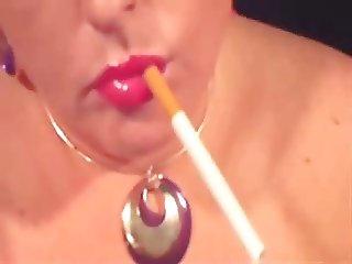 Hot BBW Solo Smoking and Dangling III