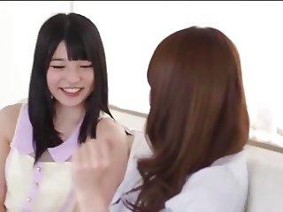 Japanese Lesbians (Best friends make love their first time)A