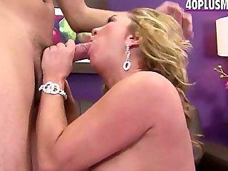 experienced blonde mom Alea