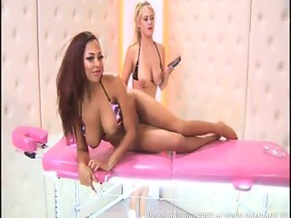 Ruby Summers & Brooke Little on massage table
