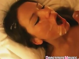 Beautiful escort facial cum