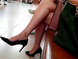 Sexy legs at station