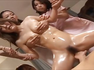 Japanese girl gets amazing massage