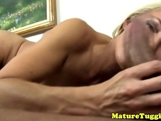 Mature tugjob lover spoils dick