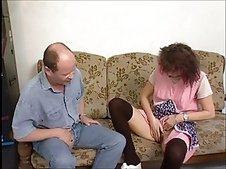 Horny Granny Gets A Fuck And Facial !