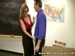 Mature bitches giving handjob