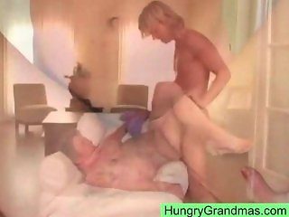 Grandma does some doggystyle fucking