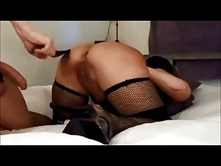Amateur curvy wife spanked and creampied