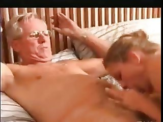 Grandpa and stepdaddy foursome