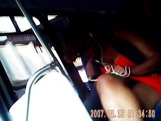 black girl bus legs