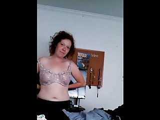Wife Secretly Filmed Putting Her Bra On
