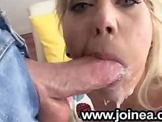 Sperm gagging blonde hoe