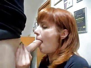 Redhead wife oral sex