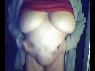 Gisele 74 yo Fondles Her Body