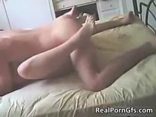 Awesome sex scene with hot brunette babe