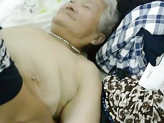 80yr old Japanese Granny Still gets Creamed (Uncensored)