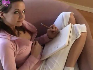 Andi Pink is a naughty college girl.