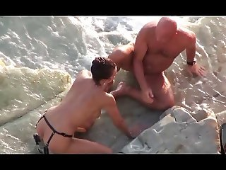 Again this couple. Wife fucks the hubby with Strapon 2.