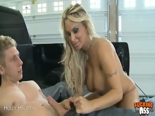 Horny Holly Halston gets booty fucked