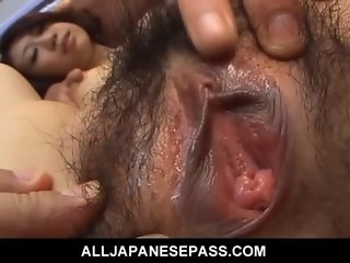 Asian MILF in a bikini in hardcore DP action