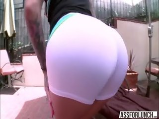 Hot big tits Karmen gets pussy destroyed by dudes huge cock
