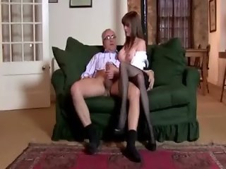 She loves old men in her pussy and mouth at all times
