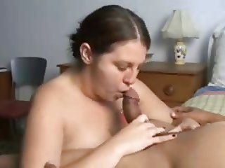 BBW Works Cock and Takes Cum in Her Mouth