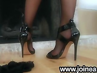 High heels and stockings milf