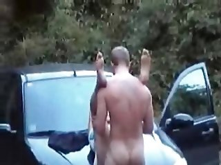 Outdoors fucking on the car